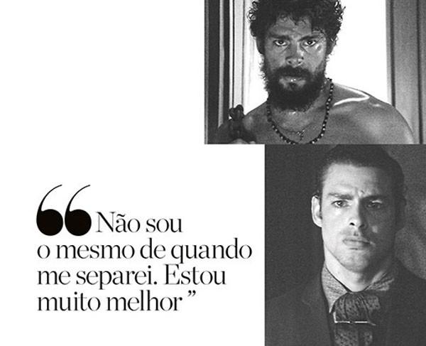 De barba, no papel de Omar; abaixo, dá vida a Yaqub, ambos personagens de Dois Irmãos (Foto: Divulgação/TV Globo)