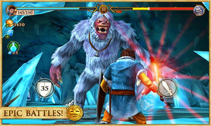 Beast Quest é um game de RPG com emocionantes batalhas pra Windows Phone (Foto: Divulgação/Windows Phone Store)