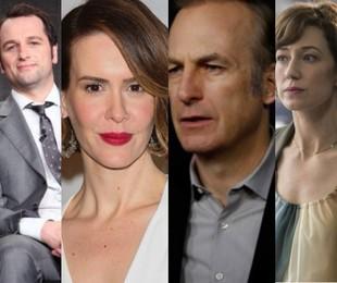 Matthew Rhys, Sarah Paulson, Bob Odenkirk e Carrie Coon |  AFP/Reuters e Divulgação