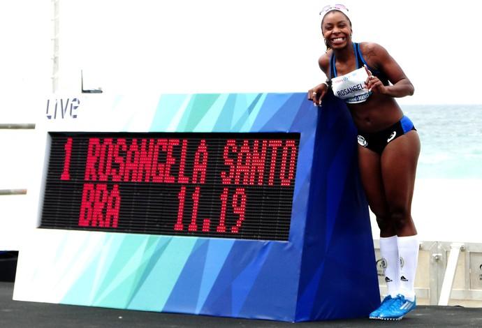 Rosângela Santos tempo atletismo desafio Bolt (Foto: Helena Rebello)