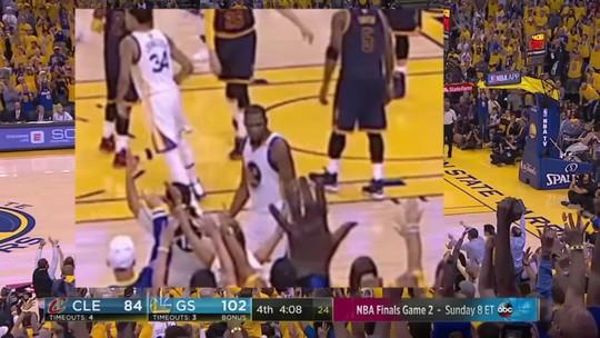 Rihanna rouba a cena em 1º jogo da final e recebe encarada de Durant