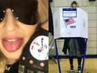 Famosos votam nas eleições nos Estados Unidos e compartilham fotos nas redes sociais