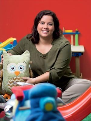 Rebeka Viana, da Curumim Feliz, apostou no aluguel de brinquedos via internet (Foto: Igo Estrela)