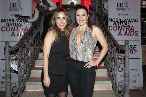 Simony e Wanessa Camargo (Foto: Rafael Cusato/EGO)