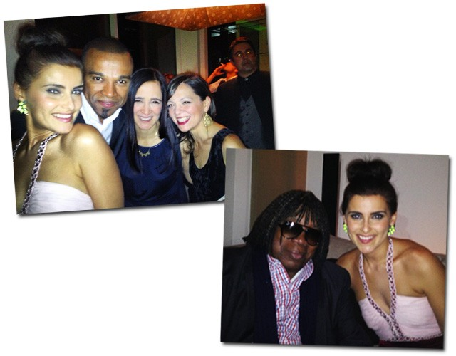 Alexandre Pires con las chicas: Nelly Furtado, Julieta Venegas e Natalia Lafoucarde. Depois, Milton posa com Nelly Furtado (Foto: Paula Lavigne)