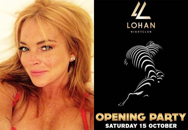 Lindsay Lohan vai inaugurar boate no dia 15 de outubro (Foto: Reprodução/Instagram)