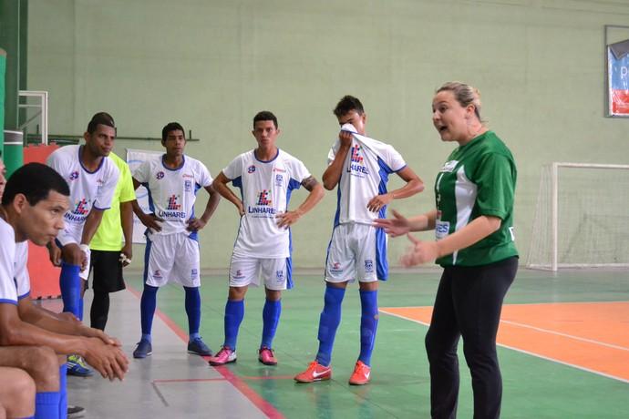Liga Desportiva Linharense avançou às semifinais do Capixaba de futsal (Foto: Richard Pinheiro/Globoesporte.com)