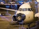 Avião faz pouso de emergência após chuva de granizo nos EUA