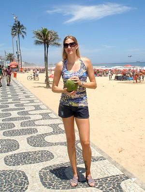Vôlei - Mari jogadora da Unilever na praia - Rio de Janeiro (Foto: Danielle Rocha / GLOBOESPORTE.COM)