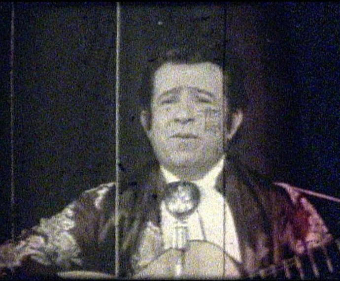 Teixeirinha no documentário de Hique Montanari (Foto: Reprodução)