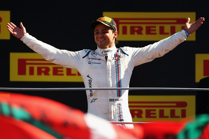 Felipe Massa celebra pódio no GP da Itália (Foto: Getty Images)