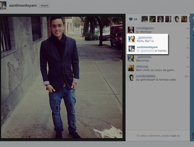 Montoya (Foto: Reprodução / Instagram)