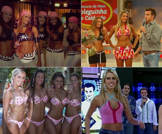 Sandrinha causou como coleguinha do 'Caldeirão' (Foto: TV Globo)
