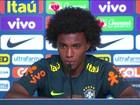 'Eu vou defender o meu, ele o dele', diz Willian sobre o belga Hazard