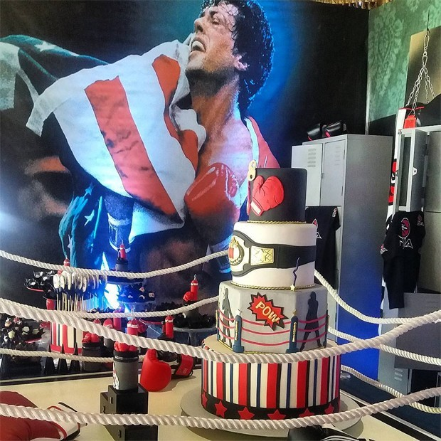 """O tema da festa foi o """"boxe"""" (Foto: Reprodução Instagram)"""