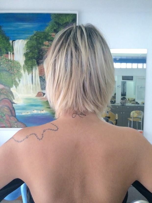 Andressa Urach com novo cabelo (Foto: Arquivo Pessoal)