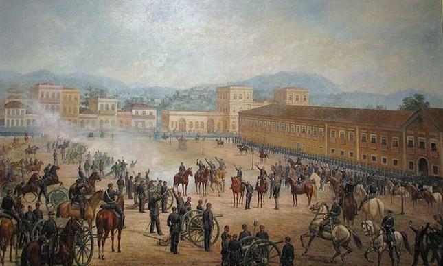 Proclamação da República, 1893 (Foto: Benedito Calixto)