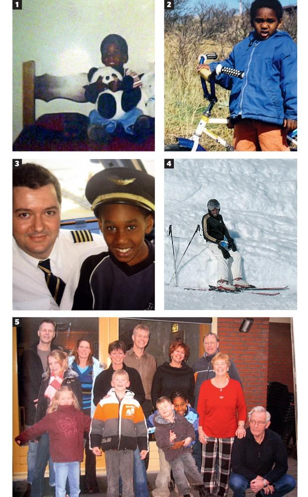 CENAS DE INFÂNCIA 1. Welington com 2 anos, no abrigo onde morou antes de ser adotado. 2. Um passeio no parque com sua família. 3. Em viagem para conhecer o Brasil com os pais,  em 2004. 4. Welington de férias, esquiando em Serfaus, nos Alpes austríacos. 5 (Foto: álbum de família)