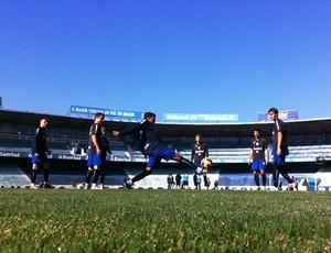 Treino deste sábado foi aberto só no final (Foto: Márcio Neves/Grêmio FBPA)