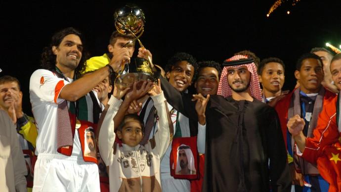 Inter campeão da Copa de Dubai, em 2008 (Foto: Alexandre Lops / Inter, DVG)