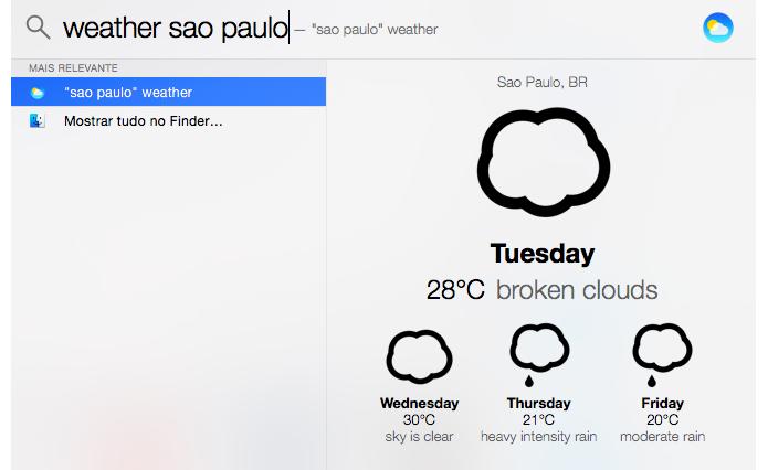 Use o app Weather para saber o clima de sua cidade (Foto: Reprodução/Paulo Alves)