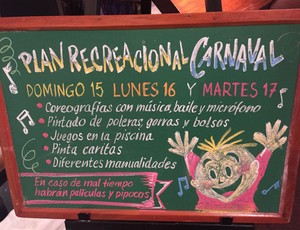 Programação de carnaval no hotel do Inter (Foto: Diego Guichard)