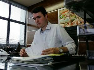 Bruno Siqueira, prefeito de Juiz de Fora (Foto: Daniel Torres/G1)