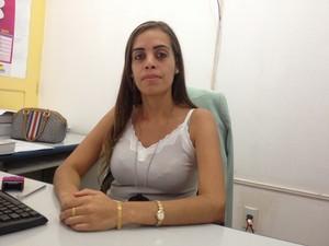 Delegada da Dccm Daniella Graça (Foto: Aline Paiva/G1)