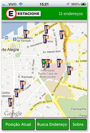 O Estacione é um aplicativo que auxilia a encontrar estacionamentos (Foto: Reprodução)