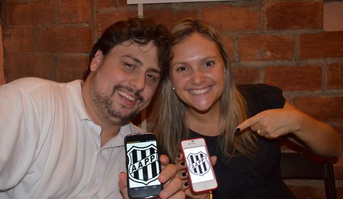Amigos, Bruno e Fernanda mantêm otimismo para primeiro título da Ponte Preta (Foto: Fernando Pacífico)