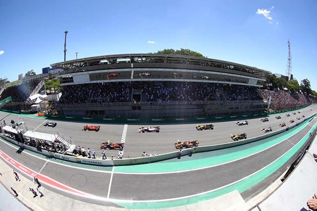 Grid de largada do GP Brasil de F1 (Foto: Beto Issa/GP Brasil de F1)