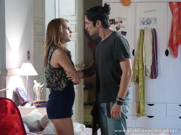 Antônio irritado com o fora de Anita  (Foto: Malhação / TV Globo)