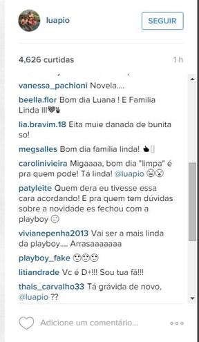 Fãs e seguidores comemoram a possibilidade de Luana Piovani ser a nova capa da revista Playboy (Foto: Reprodução do Instagram)