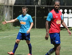 dagoberto e Dedé cruzeiro treino (Foto: Gabriel Duarte)