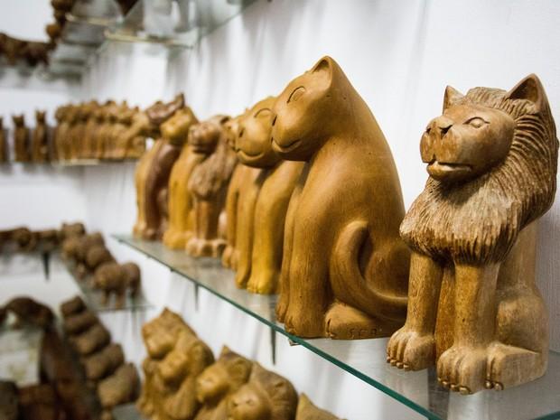 Museu Manoel da Marinheira possui sala com esculturas em miniatura. (Foto: Jonathan Lins/G1)