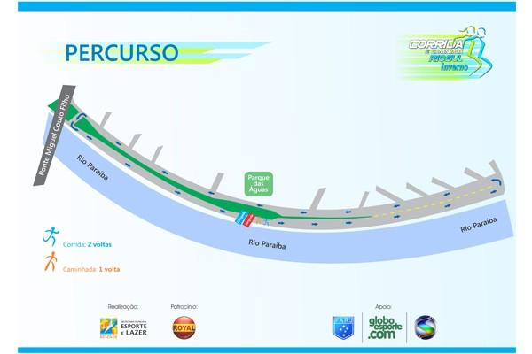 Percurso da Corrida e Caminhada Rio Sul de Inverno (Foto: Reprodução TV Rio Sul)