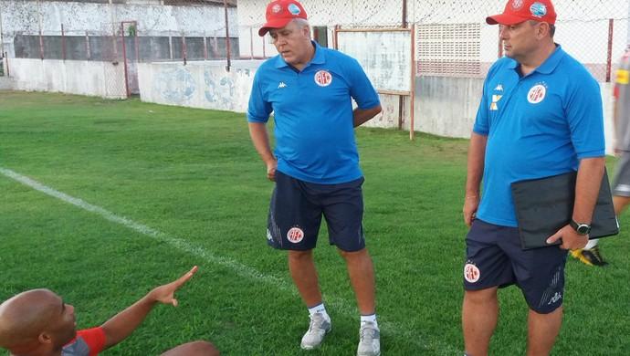 América-RN - apresentação dos jogadores (Foto: Canindé Pereira/Divulgação)