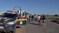 Caminhoneiros protestam contra a política de preços dos combustíveis