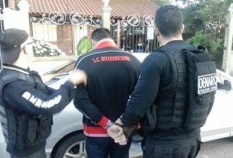 Preparador de goleiros da base do Inter foi preso na última segunda (Foto: Foto: Polícia Civil/Divulgação)