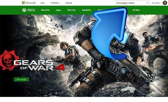 Busque o Forza Horizon 3 no site (Foto: Reprodução/Murilo Molina)