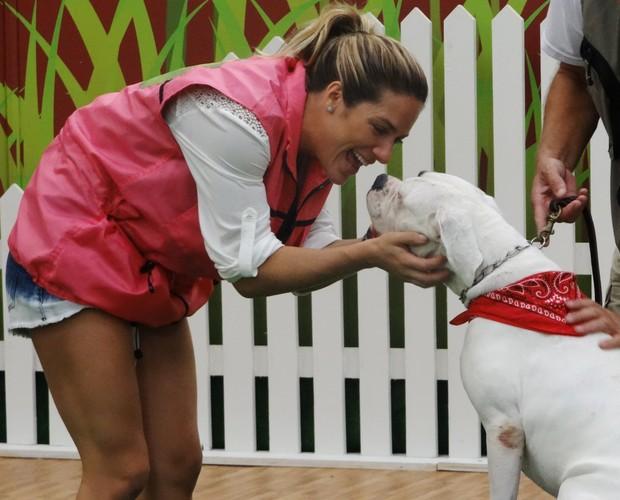 Giovanna Ewbank tem muito amor pelos cães  (Foto: Domingão do Faustão / TV Globo)