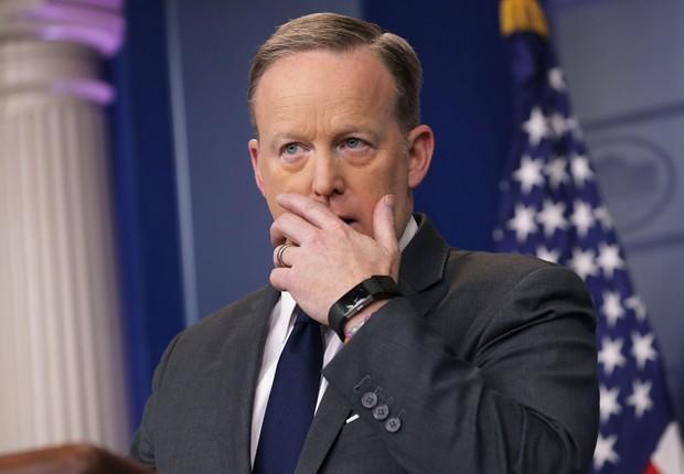 Sean Spicer, secretário de imprensa da Casa Branca (Foto: Chip Somodevilla/Getty Images)
