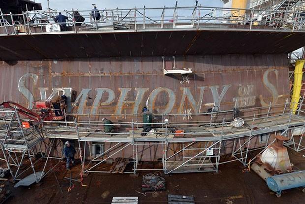 Maior navio do mundo será lançado em abril de 2018 (Foto: Divulgação)