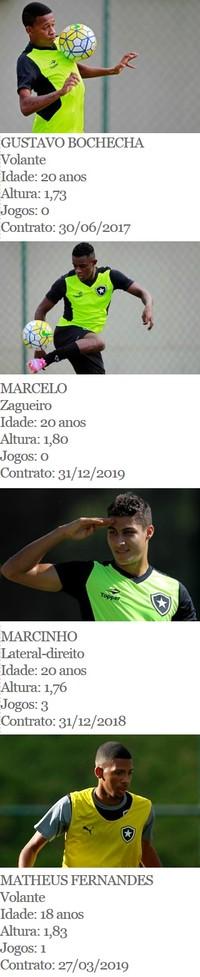tabela garotos Botafogo (Foto: Arte Esporte)