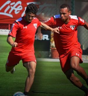 Carrossel Alexandre Pato e Luis Fabiano São Paulo (Foto: Infoesporte)