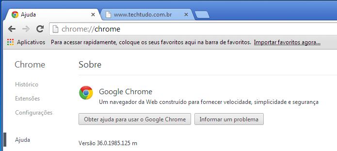 Lançado oficialmente o Chrome 36 (Foto: Reprodução/Edivaldo Brito)