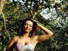 Laura Keller faz trilha e escalada para manter a forma: 'Já fui gordinha'