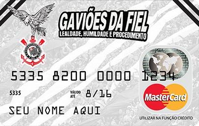 Cartão de crédito da Gaviões da Fiel operado pela Acesso (Foto: Divulgação)