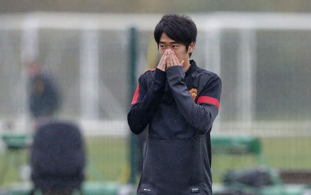 kagawa manchester united treino (Foto: Agência Reuters)