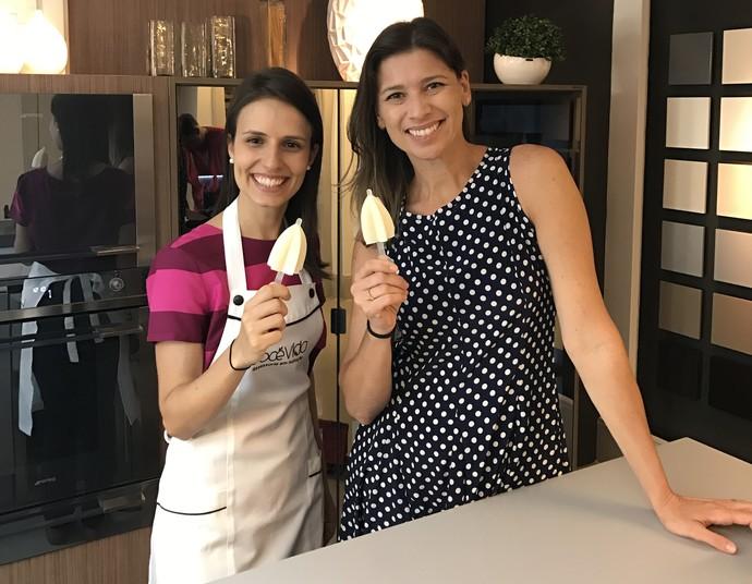 Mistura também ensinou receita de picolé de limão  (Foto: RBS TV/Divulgação )